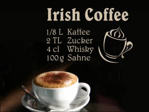 Irish Coffee - Wandtattoo
