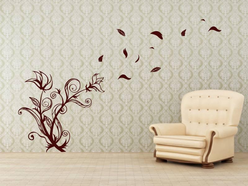 bluetenstrauch im wind 3 wandtattoo. Black Bedroom Furniture Sets. Home Design Ideas