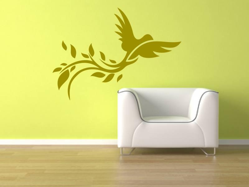 Floraler vogel 54 wandtattoo - Vogel wandtattoo ...