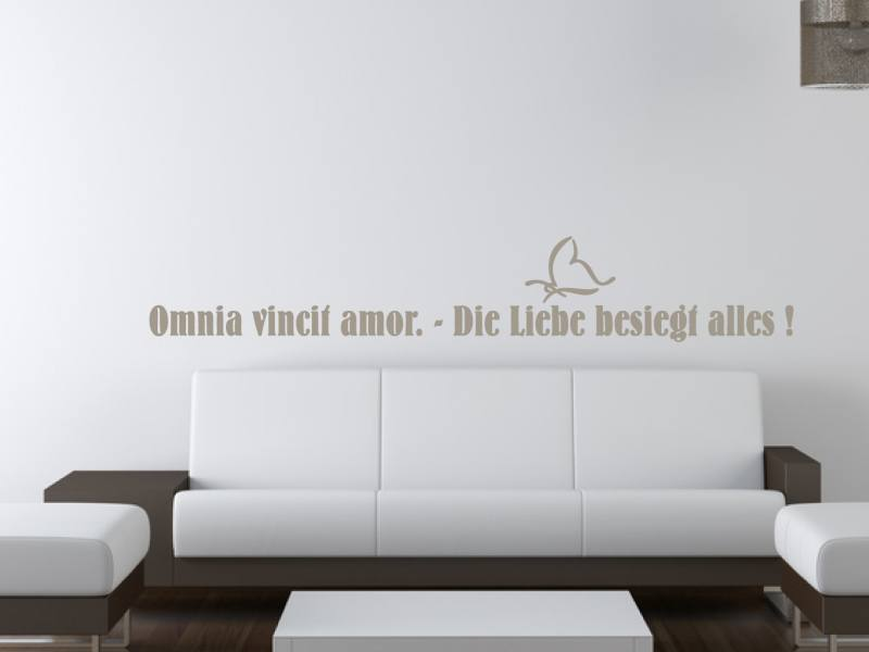 omnia vincit amor wandtattoo. Black Bedroom Furniture Sets. Home Design Ideas