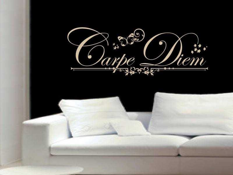carpe diem 4 wandtattoo. Black Bedroom Furniture Sets. Home Design Ideas