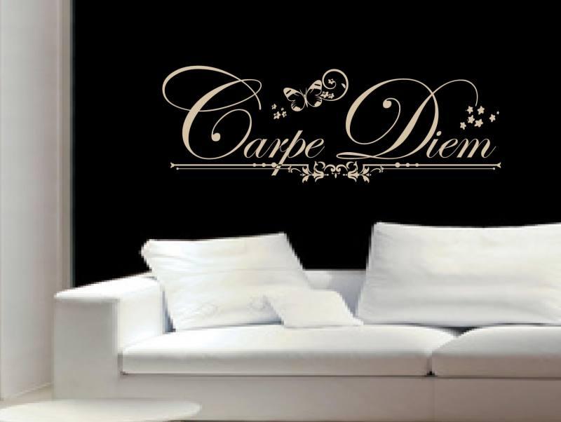 carpe diem 4 wandtattoo. Black Bedroom Furniture Sets. Home Design Ideas