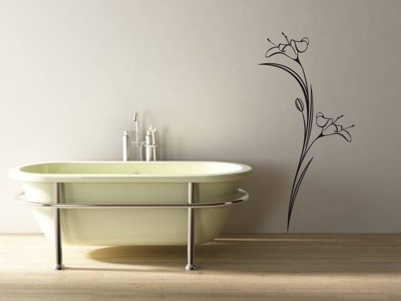 blume lilie 0171 wandtattoo. Black Bedroom Furniture Sets. Home Design Ideas