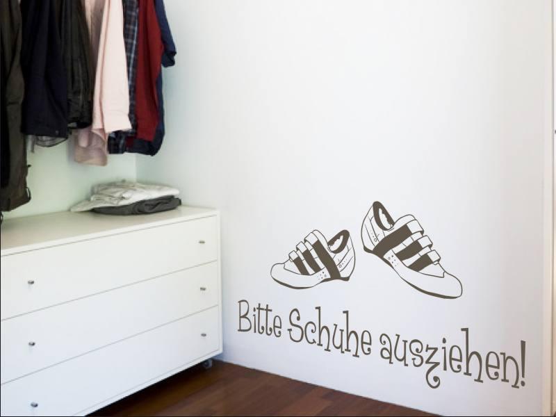 Bitte Schuhe Ausziehen bitte schuhe ausziehen wandtattoo